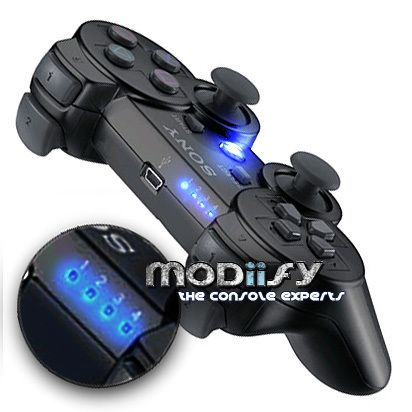 LED Mod Kit PS3 Controller 1234 Button Player (Blue)