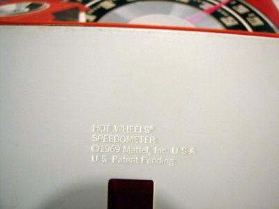 Vtg Hot Wheels Speedometer ~Rod Runner~Dual Lane Curved Track Redline