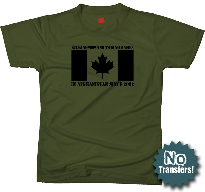 CANADA in AFGH Canadian forces army military T shirt |