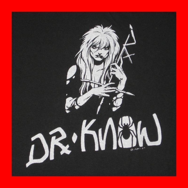 VTG DR KNOW TOUR T SHIRT OG 80s EXPLOITED BAD BRAINS