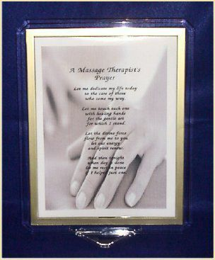 Massage Therapists Prayer Print Personalized